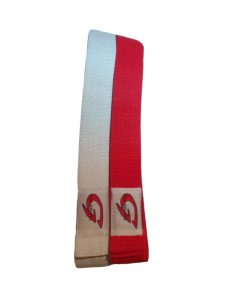set rode en witte judobanden speciaal voor wedstrijden