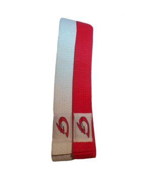 set judobanden rood en wit