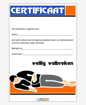 Certificaat veilig valbreken