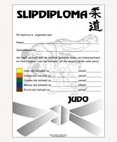diploma judo - slipdiploma voor witte band