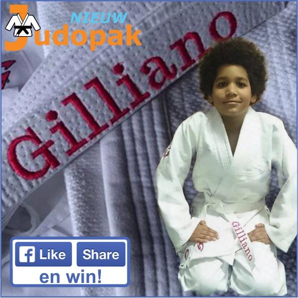 Gilliano winnaar geborduurde judoband