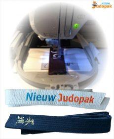 Laat jouw judoband borduren met de Nieuw Judopak Borduurservice