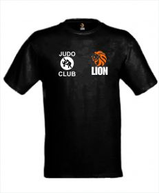Judo T-shirt LION Club bedrukt met eigen clublogo