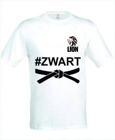 Judo T-shirt Lion hastag geslaagd voor zwarte band