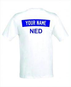 T-shirt met jouw naam als rugembleem Nederland