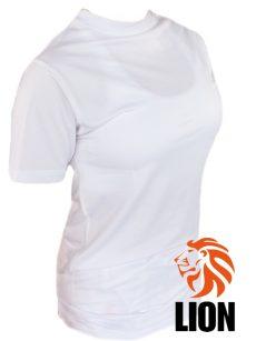 lion ladies rash guard in wit met hoge kraag