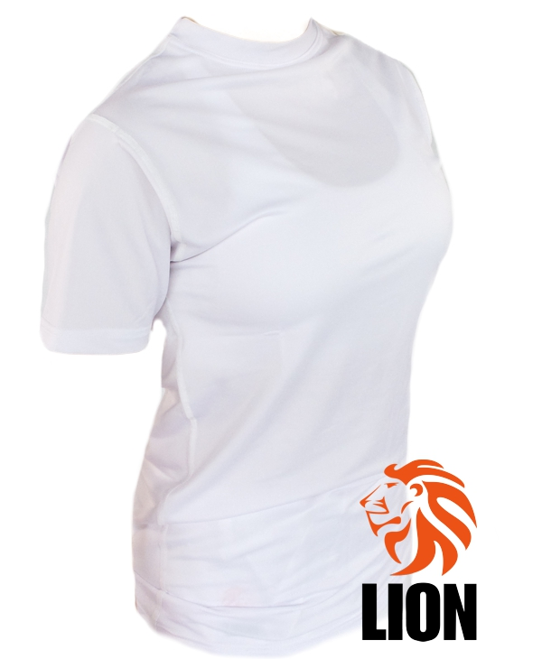 lion ladies rash guard in wit met hoge kraag