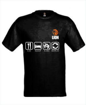 Judo T-shirt eat sleep judo repeat