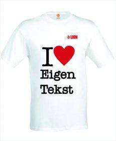 T-shirt I love eigen tekst