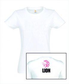Judo T-shirt LION basismodel dames rug roze
