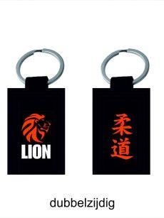 Lion judo sleutelhanger judoband