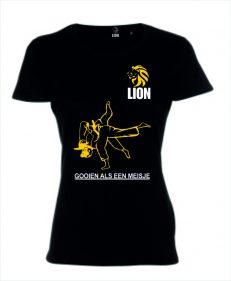Lion Tshirt gooien als een meisje